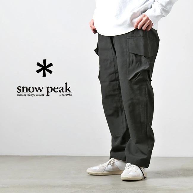 (PA-20AU10102BK/103BK/104BK) / snow peak(スノーピーク) / TAKIBI Pants(焚火パンツ)