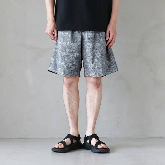 ◎(DLMRJG83) / DESCENTE PAUSE(デサントポーズ) / GLEN CHECK SHORT PANTS(グレンチェックショートパンツ) 【SUMMER SALE40%OFF】