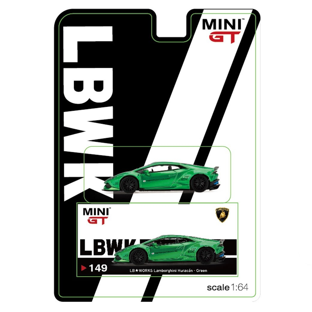 1/64 MINI GT LB-WORKS Huracan Green