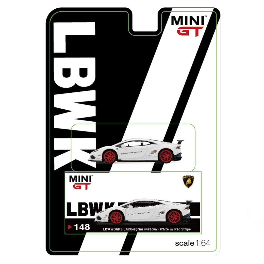 1/64 MINI GT LB-WORKS Huracan White