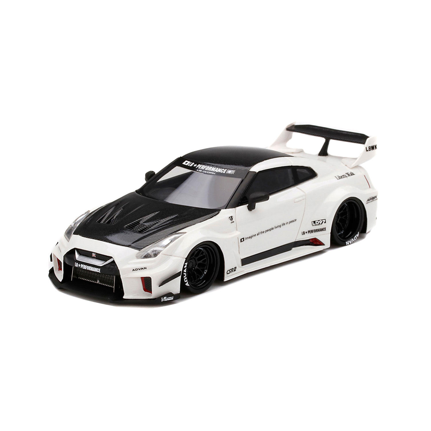 1/43 TSM MODEL LB- SILHOUETTE WORKS 35GT-RR White