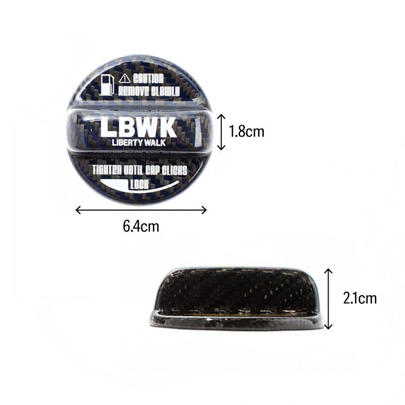 【予約】LBWK ドライカーボン製 フューエルキャップカバー TOYOTA・SUBARU