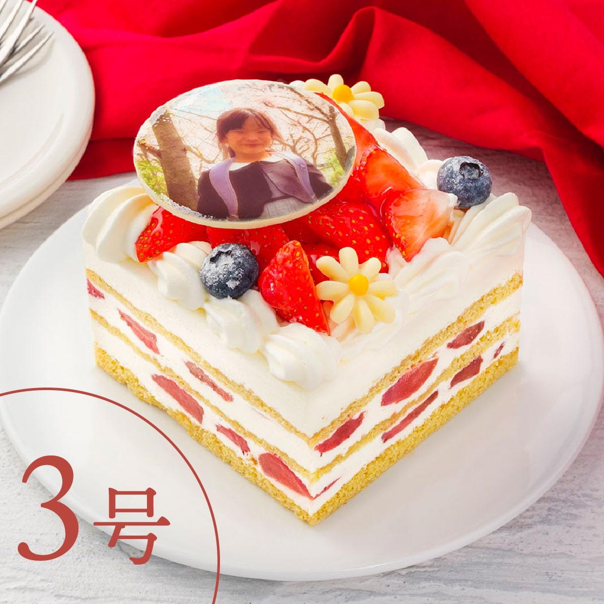 【3号】【写真プレート付き】イチゴいっぱいショートケーキ|1人でも楽しめるショートケーキ【配送専用】