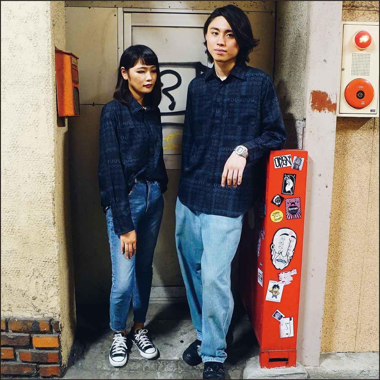 YUKIAKIRA 一匹狼デザイン オープンカラーシャツ