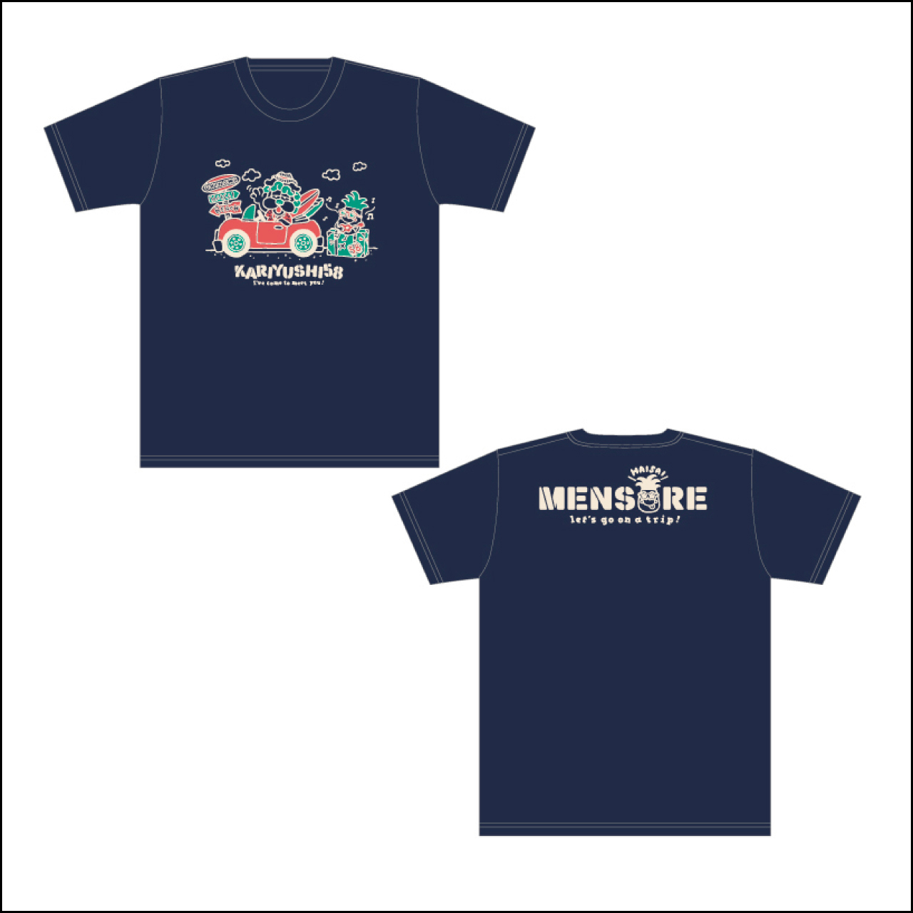 MENSOREシーサーくんTシャツ