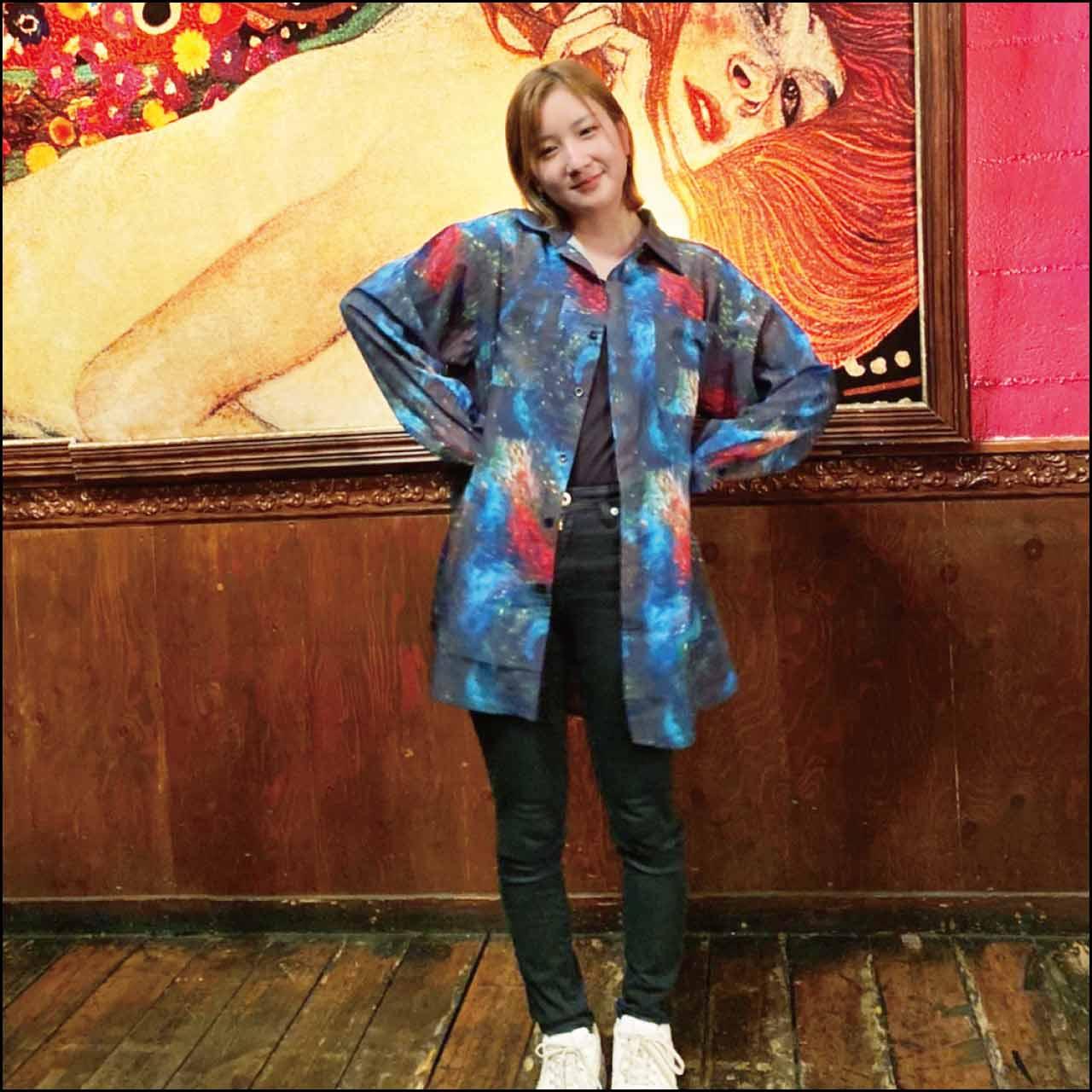 YUKIAKIRA 拍手喝采デザイン オープンカラーシャツ