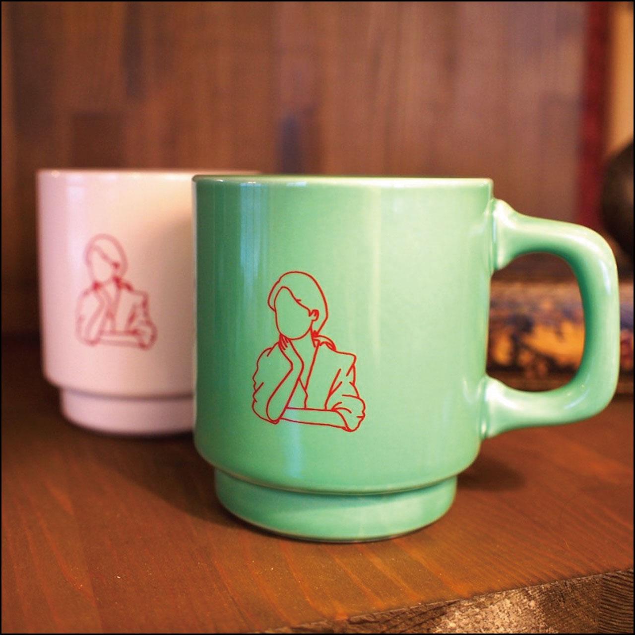 シルエットマグカップ