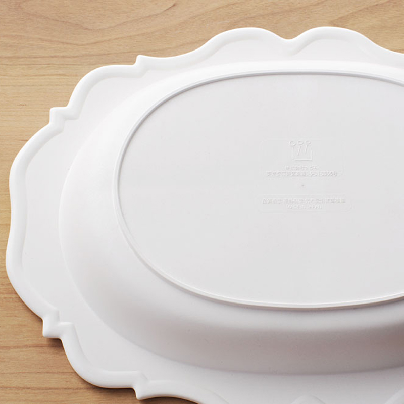 【日本製竹配合プラスチック・ベビー・キッズ食器】 Reale レアーレシリーズ 三食皿/ ガルソン