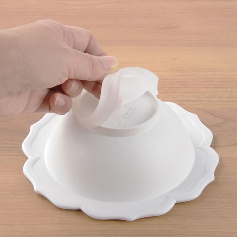 【日本製竹配合プラスチック・ベビー・キッズ食器】 Reale レアーレシリーズ ボウル&白小皿/ シェフセット 吸盤付き
