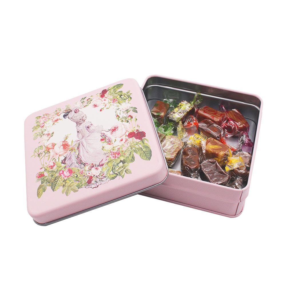 【 マリーアントワネット 】 キャラメル 12粒 スクエア缶 (ピンク)