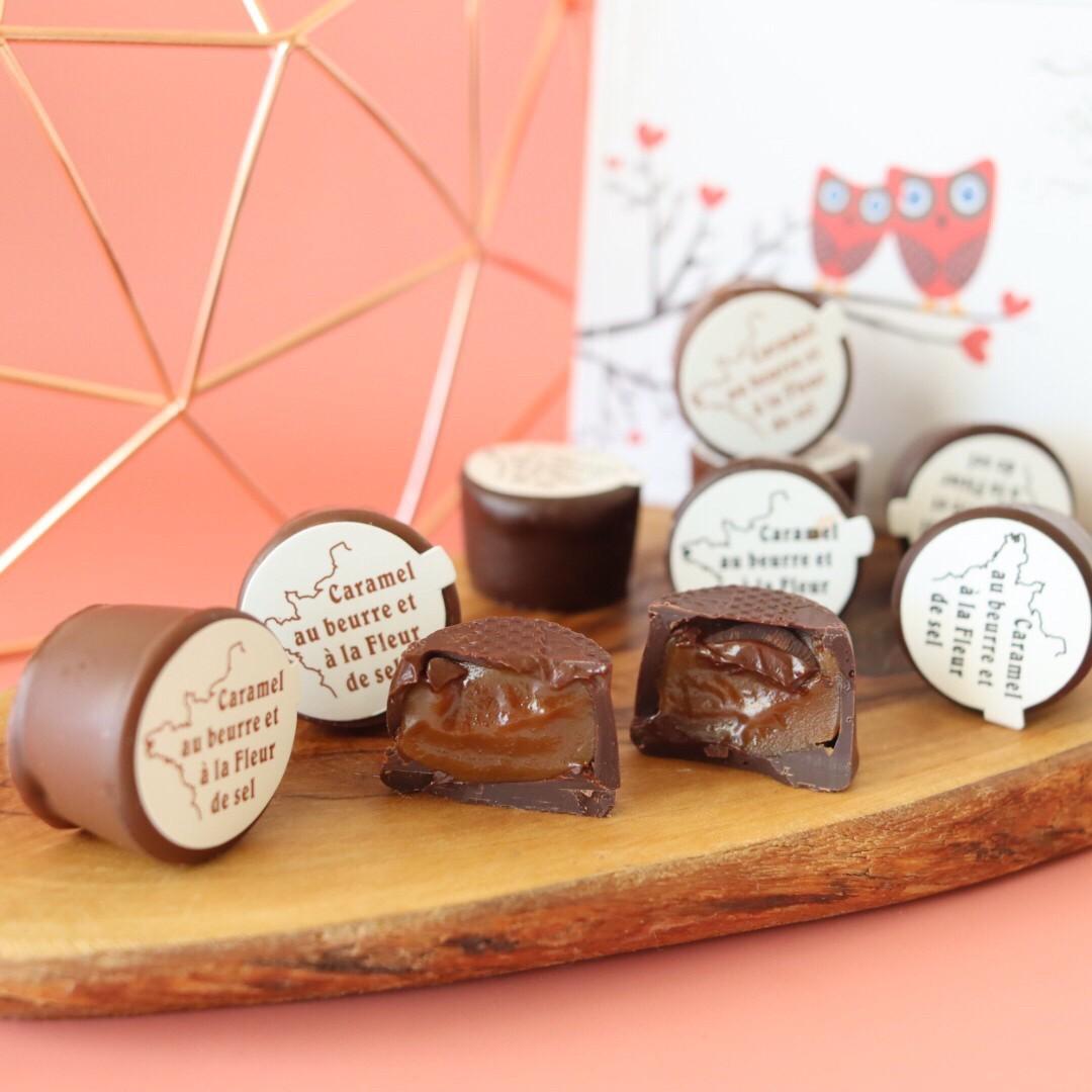 キャラッセルチョコレート 6粒(ビター3粒、ミルク3粒)