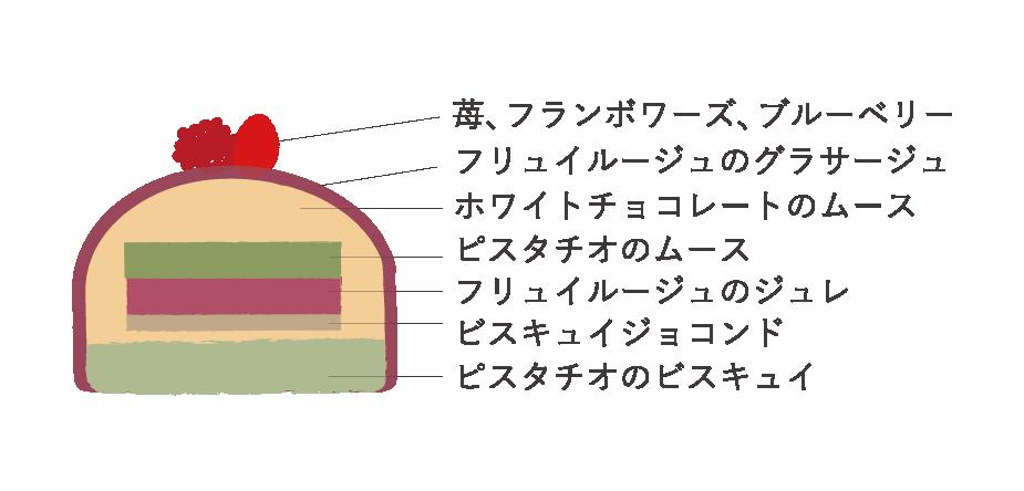 【クリスマス】ビュッシュ・ド・ノエル ショコラブラン(アントルメ)