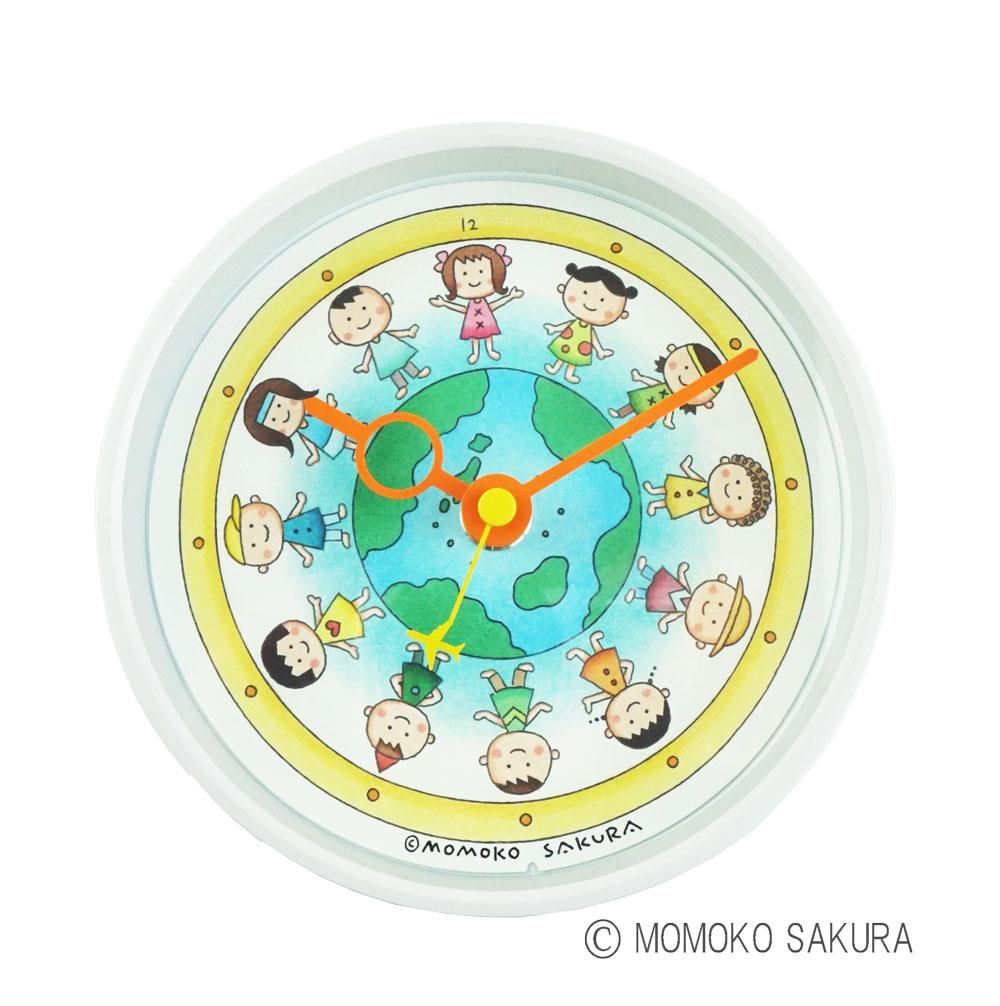 さくらももこ デザイン 「地球の子供たち」 クロック