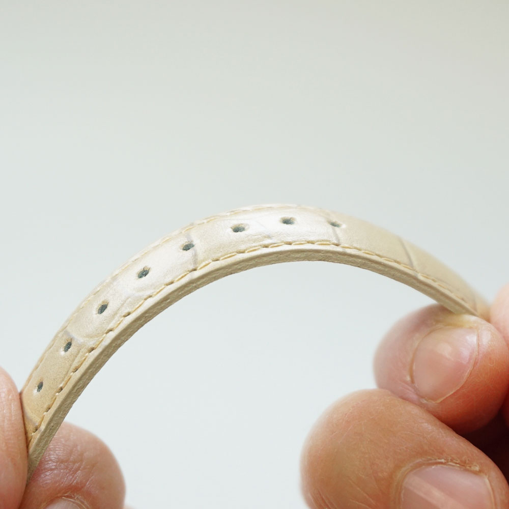 腕時計ベルト 8mm ロワール クロコ型押し フランス製