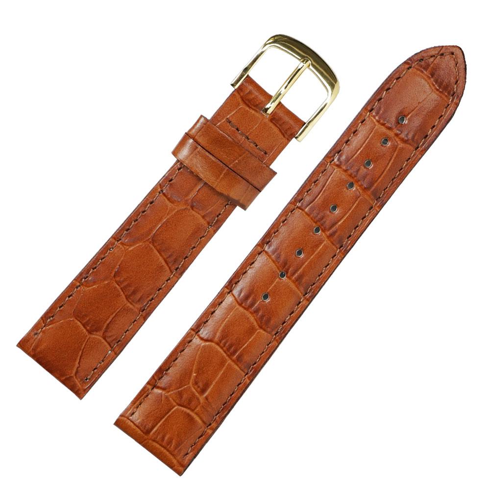 腕時計ベルト 18mm ロワール クロコ型押し フランス製
