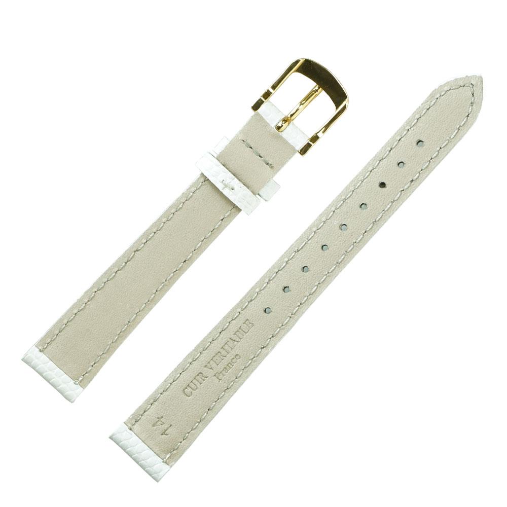 腕時計ベルト 14mm ロワール リザード型押し フランス製