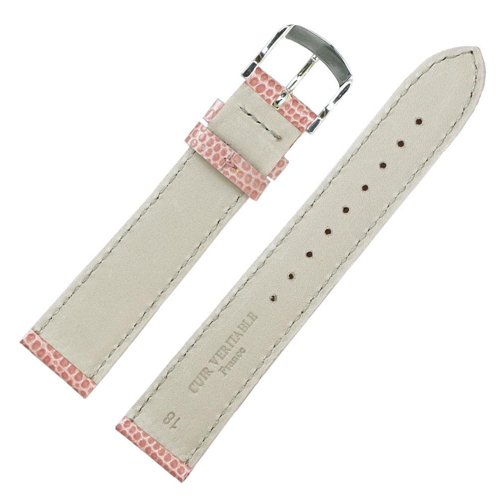 腕時計ベルト 18mm ロワール リザード型押し フランス製