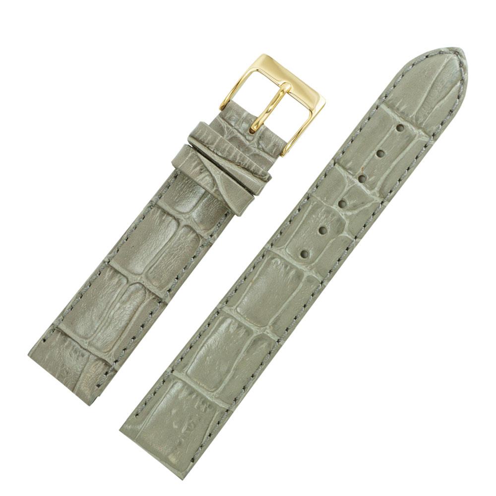 16mm 腕時計ベルト マニフィック 牛革クロコ型押し