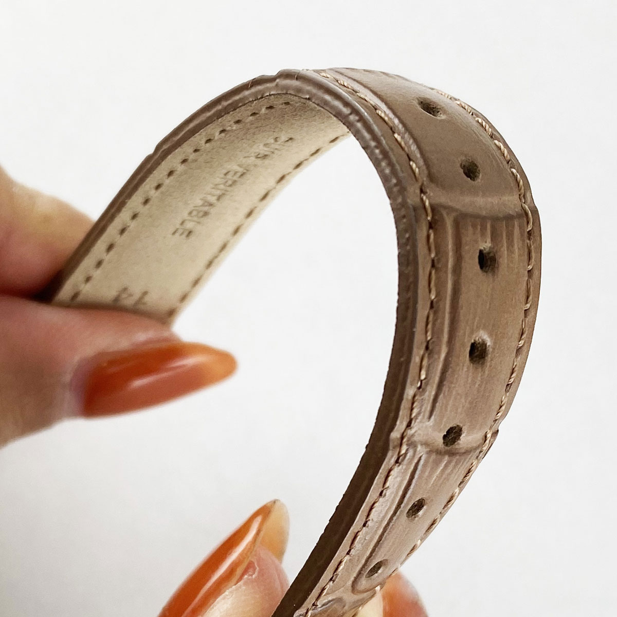 10mm 腕時計ベルト ノーブル 牛革クロコ型押しベルト