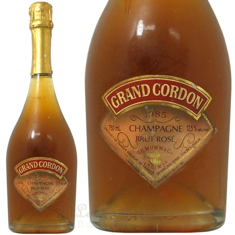 1985 グランド コルドン ロゼ マム シャンパン 辛口 ROSE 750ml Mumm Grand Cordon Rose