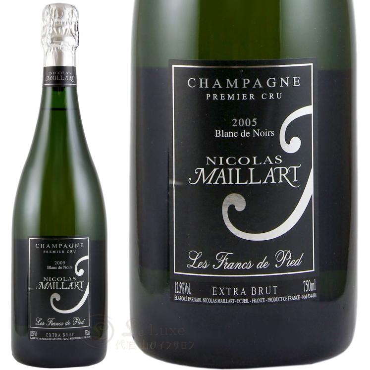 2005 フラン ド ピエ エキストラ ブリュット プルミエ クリュ ニコラ マイヤール 正規品 箱入り 白ワイン 辛口 750ml ギフトボックス Nicolas Maillart Les Francs de Pied Extra Brut 1er Cru