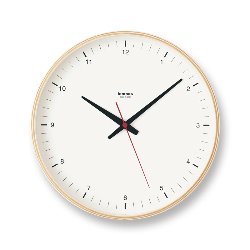 Plywood clock /(T1-017(1))