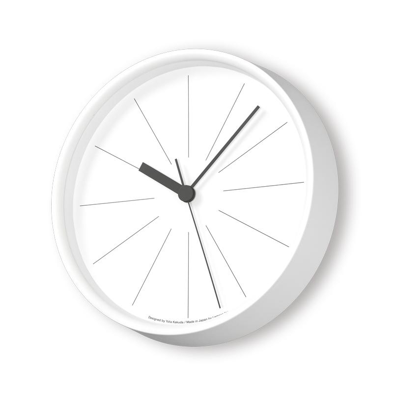 ラインの時計[電波時計]/ ホワイト (YK18-09 WH)