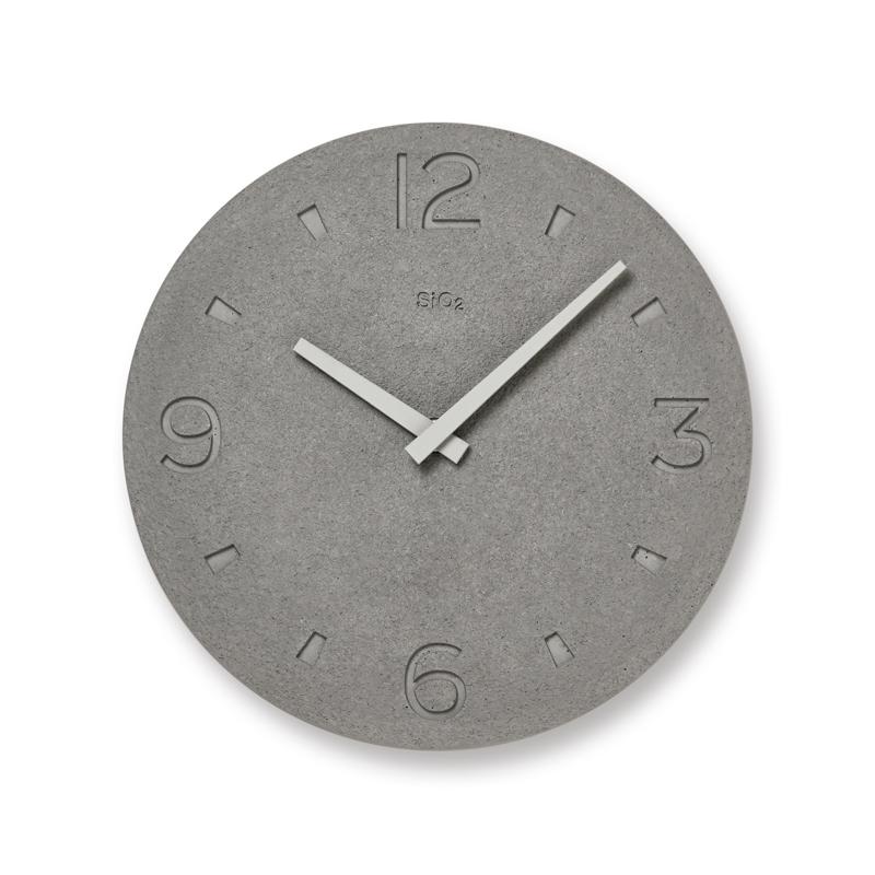 珪藻土の時計(掻き落とし仕上げ) / グレー(NY21-03 GY)