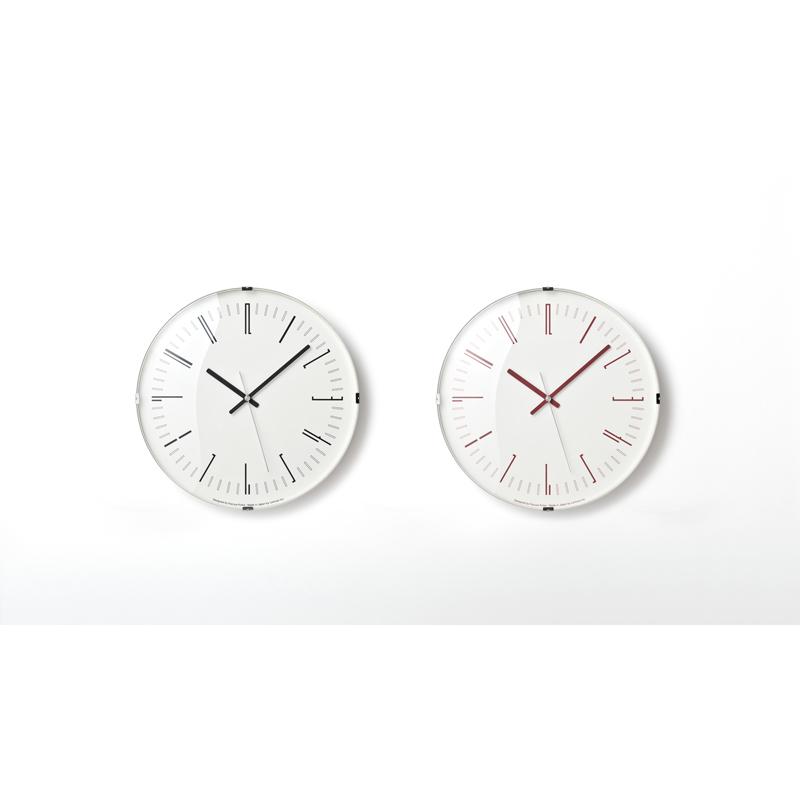 Draw wall clock[電波時計]/ レッド (KK18-12 RE)