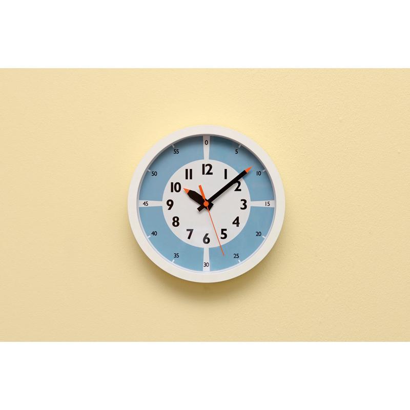 fun pun clock with color! / ライトブルー (YD15-01 LBL)