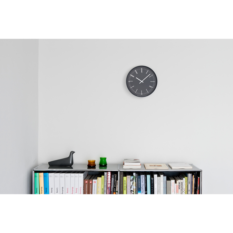 Draw wall clock / ブラック (KK18-13 BK)