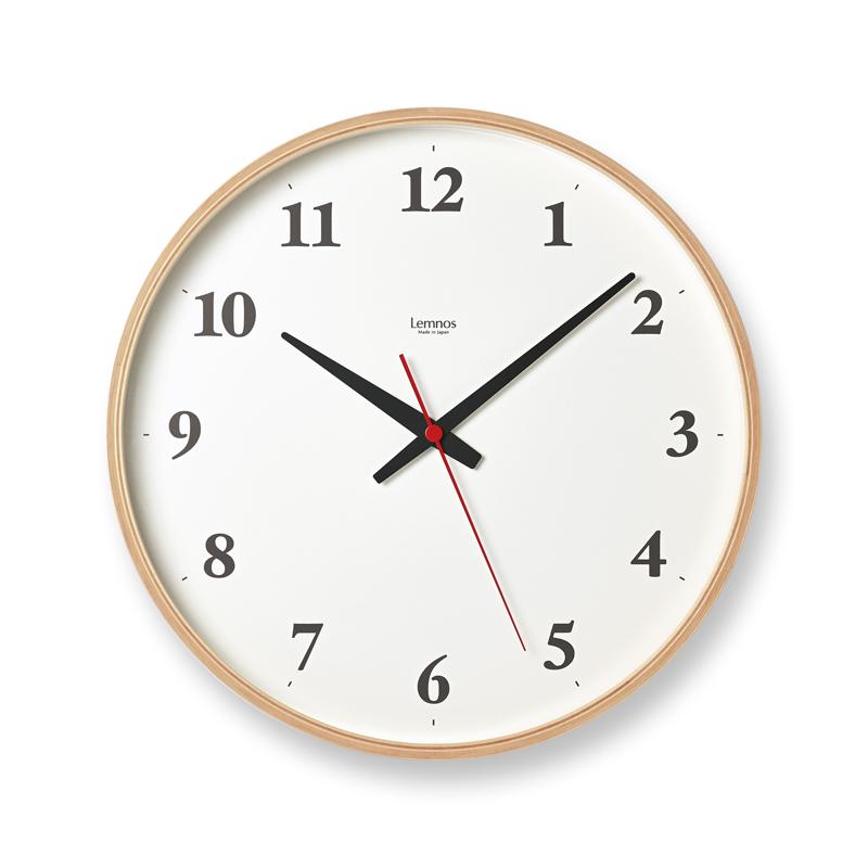 Plywood clock[電波時計]/ ナチュラル (LC21-06W NT)