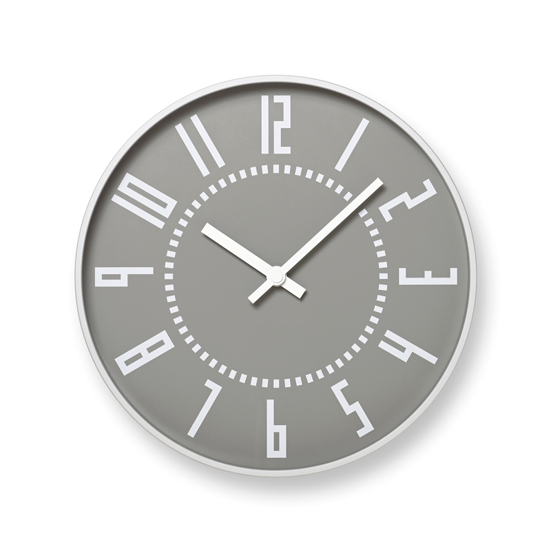 eki clock / グレー (TIL16-01 GY)