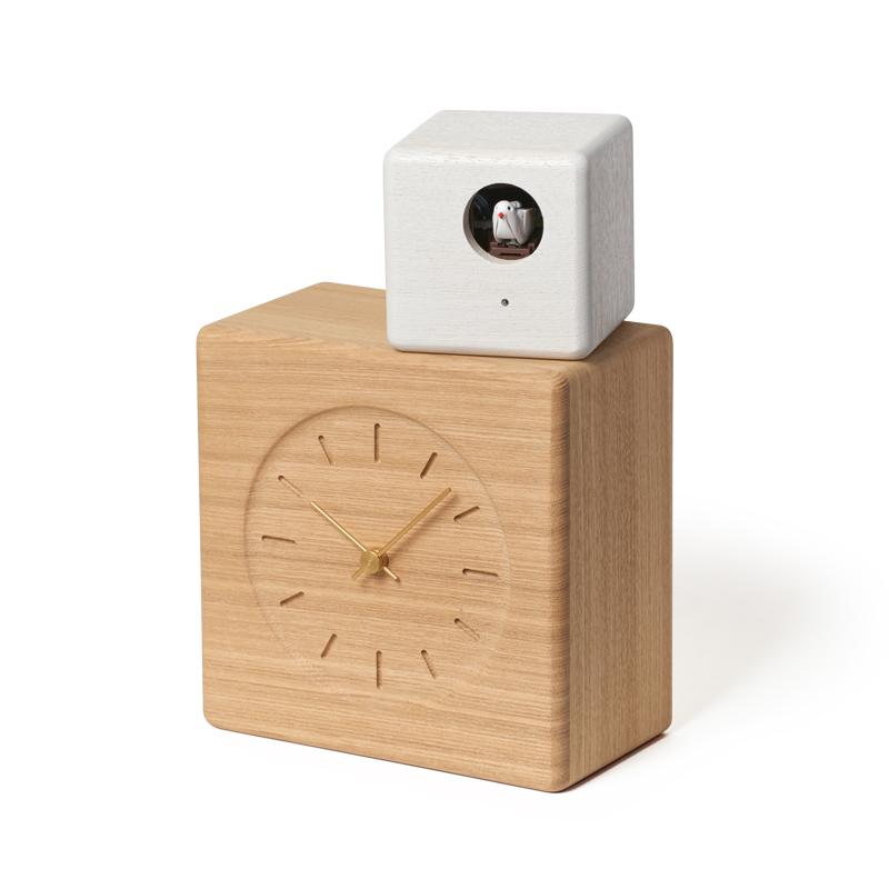 Cubist Cuckoo Clock / ナチュラル+ホワイト (GTS19-04 A)