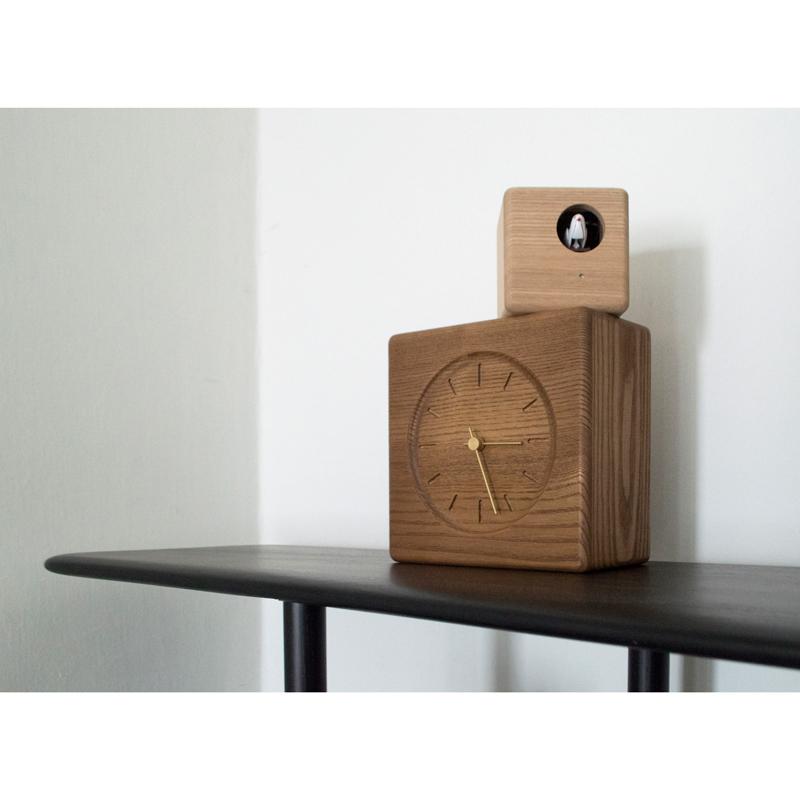 Cubist Cuckoo Clock / ブラウン+ナチュラル (GTS19-04 B)