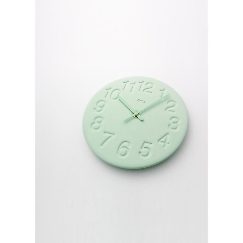 珪藻土の時計 / グリーン (LC11-08 GN)