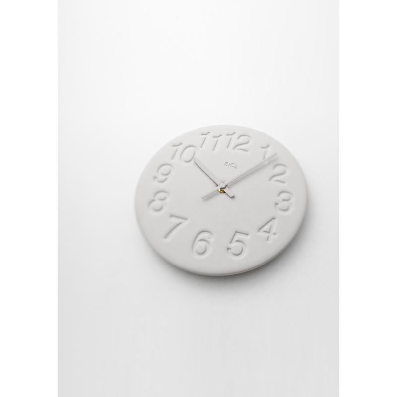 珪藻土の時計 / ホワイト (LC11-08 WH)
