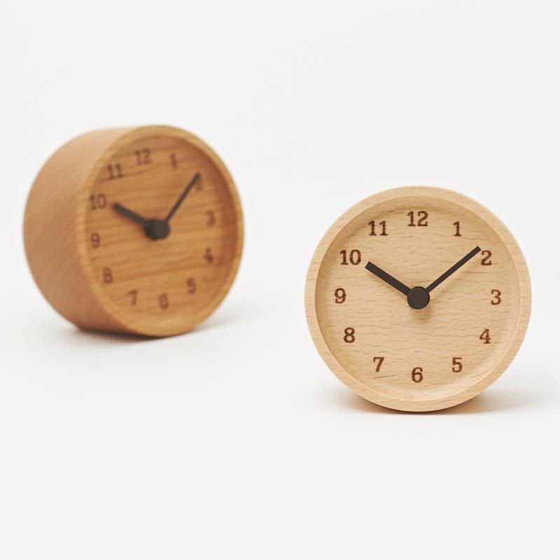MUKU desk clock / アルダー (LC12-05 AD)