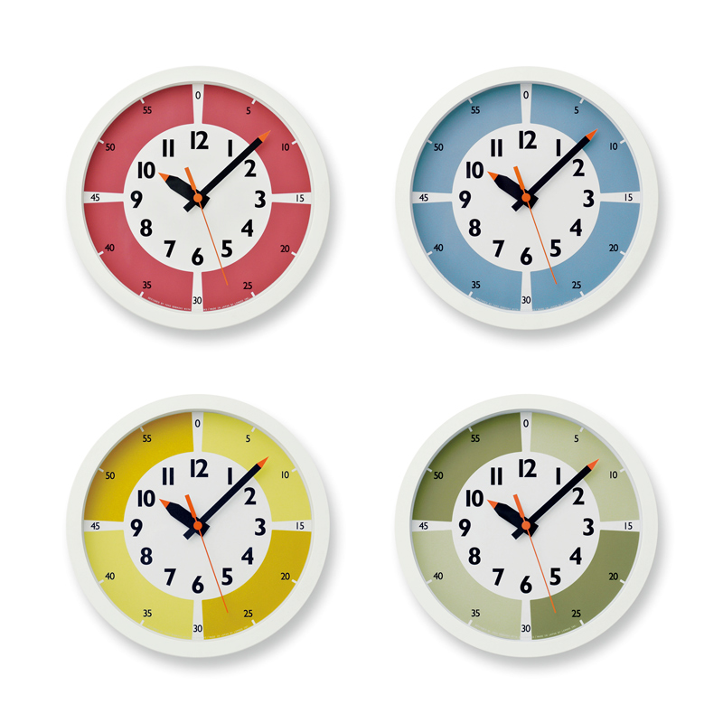 fun pun clock with color! / グリーン (YD15-01 GN)