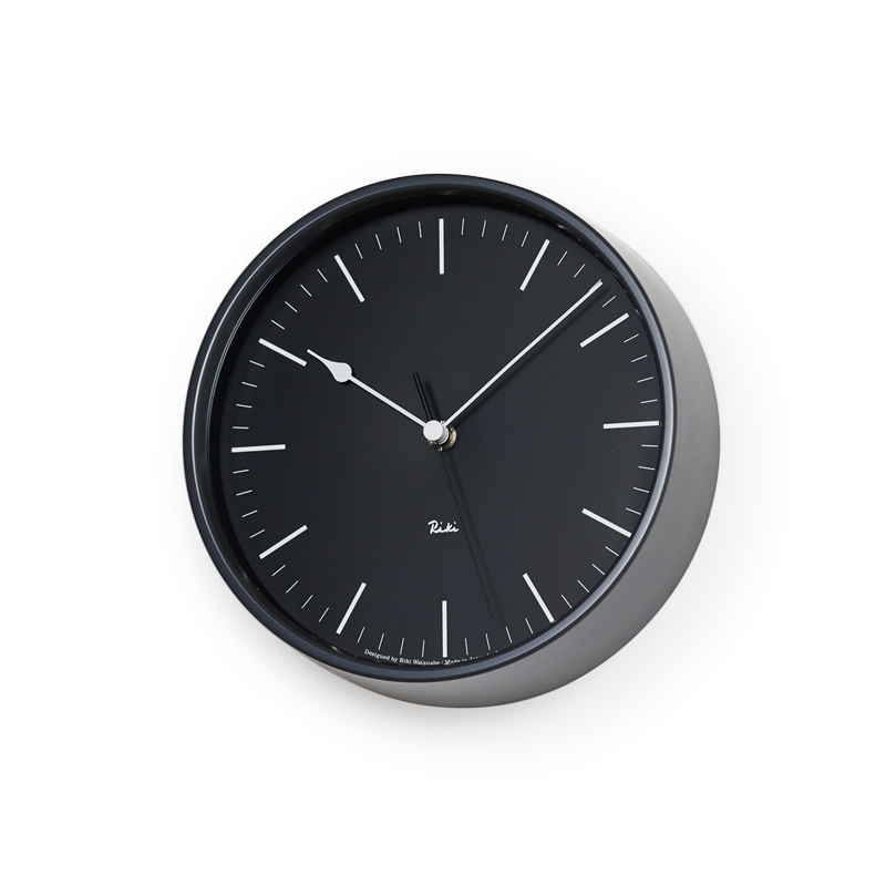 RIKI STEEL CLOCK [電波時計]/ ブラック (WR08-24 BK)