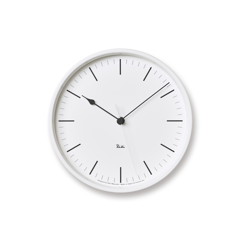 RIKI STEEL CLOCK [電波時計]/ ホワイト (WR08-24 WH)