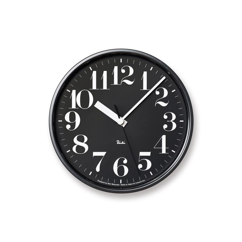 RIKI STEEL CLOCK[電波時計]/ ブラック (WR08-25 BK)