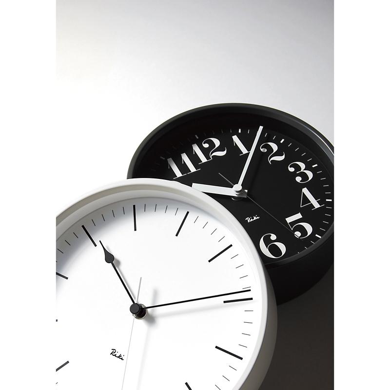 RIKI STEEL CLOCK [電波時計]/ ホワイト (WR08-25 WH)