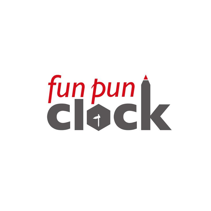 fun pun clock for table /(YD18-04)