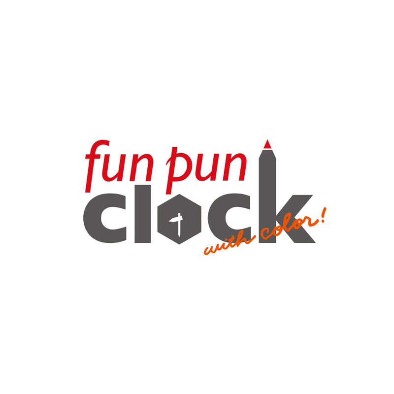 fun pun clock with color! for table / レッド (YD18-05 RE)