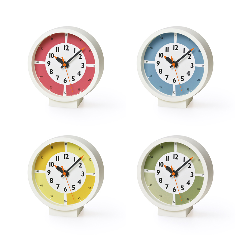 fun pun clock with color! for table / イエロー (YD18-05 YE)