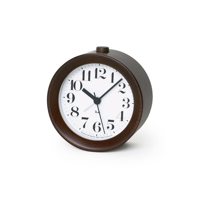 RIKI ALARM CLOCK [アラーム]/ ブラウン (WR09-15 BW)