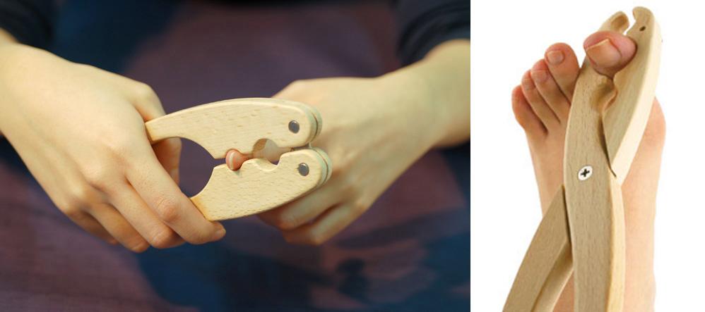 """話題の健康法""""爪もみ""""を足指にも手軽に。「爪もみ花子」"""