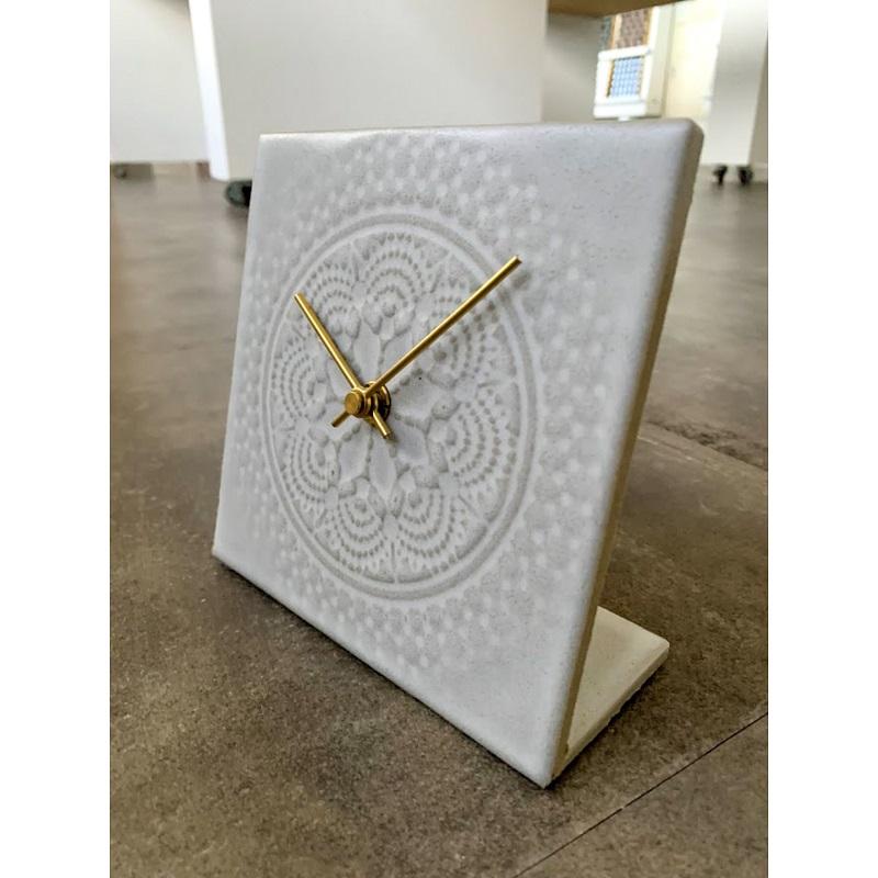 Liam Lace Tile Clock  リアム レースタイル クロック