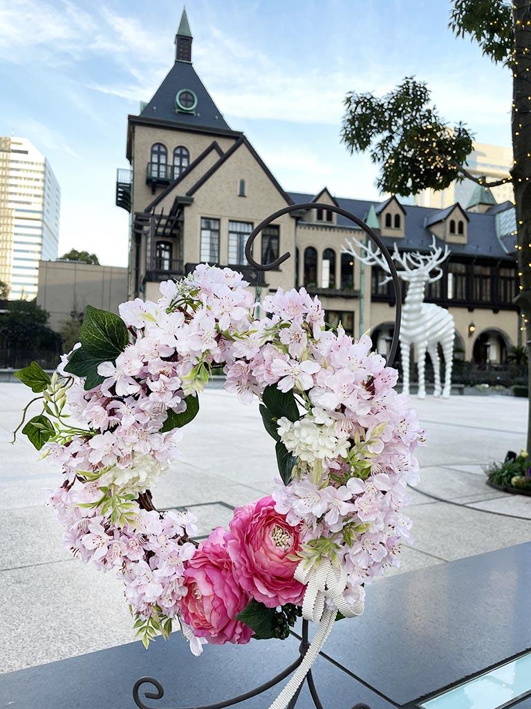 【紀尾井町店オリジナル商品|店頭受取】Spring Wreath -Sakura Pink-